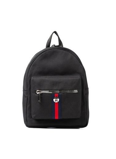 TH Bags TH Bags 2THCW2020017 Suni Deri Tek Bölmeli Kadın Sırt Çantası Siyah